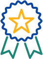 Icon of a start ribbon