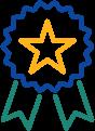 Icon of a start ribbon